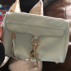 Rebecca minkoff sky light blue mini Mac excellent